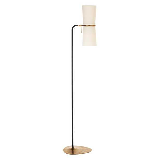 CLARKSON FLOOR LAMP - ANTIQUE BRASS & BLACK - McGee & Co.