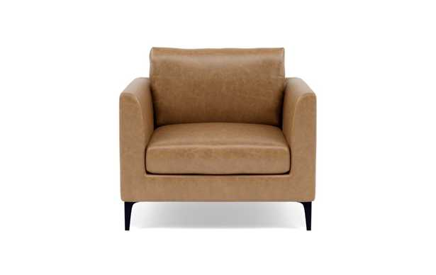 Owens Leather Accent Chair - Palomino Pigment-Dyed Leather - Interior Define