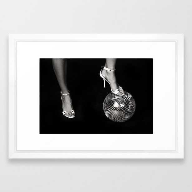 Disco Lies Framed Art Print - Society6