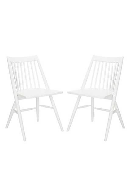 Ames Chairs, Set of 2, White - Cove Goods