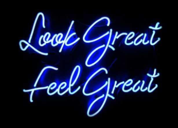 Look Great Feel Great Neon Sign - Wayfair