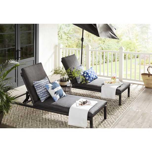 Mirando Sun Reclining Chaise Lounger Set with Cushions (Set of 2) - Wayfair
