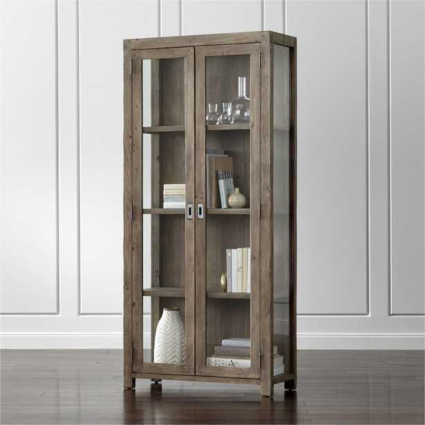 Morris Ash Grey Bookcase - Crate and Barrel