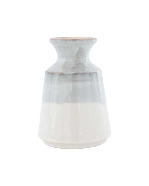 GRAY DIPPED VASE - McGee & Co.