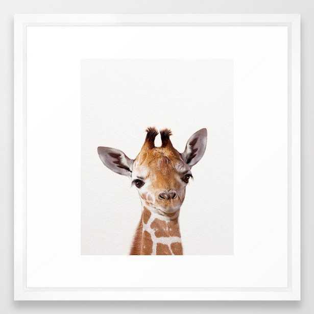 Baby Giraffe, Baby Animal Art Prints By Synplus Framed Art Print - Society6