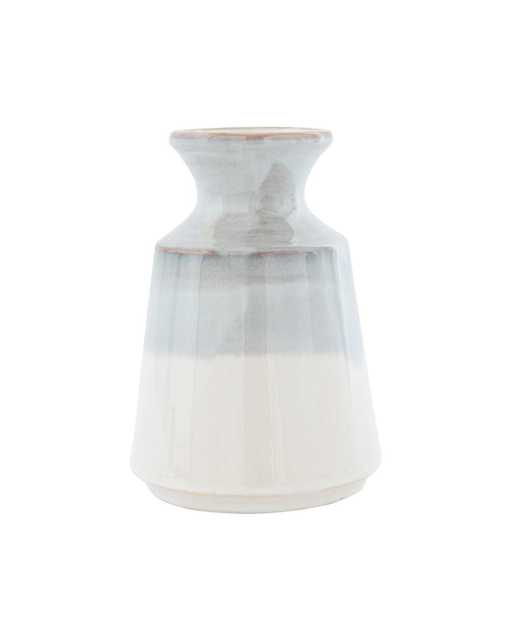 GRAY DIPPED VASE - SMALL - McGee & Co.