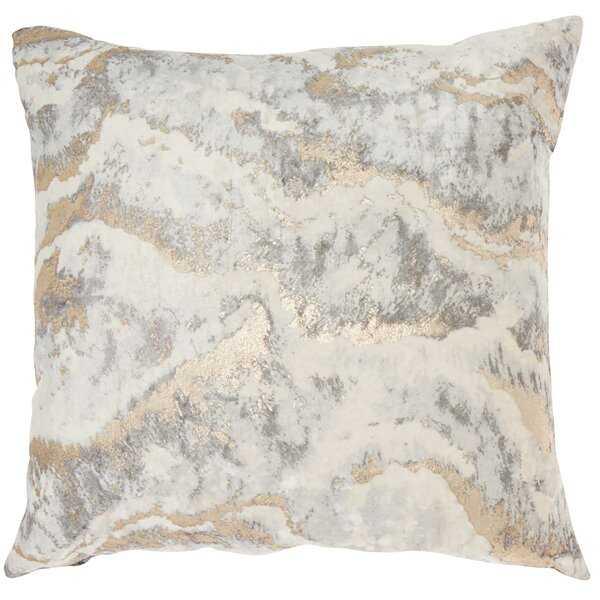 Inspire Me! Home Decor BJ109 Metallic Marble Light Gray Throw Pillow - Wayfair