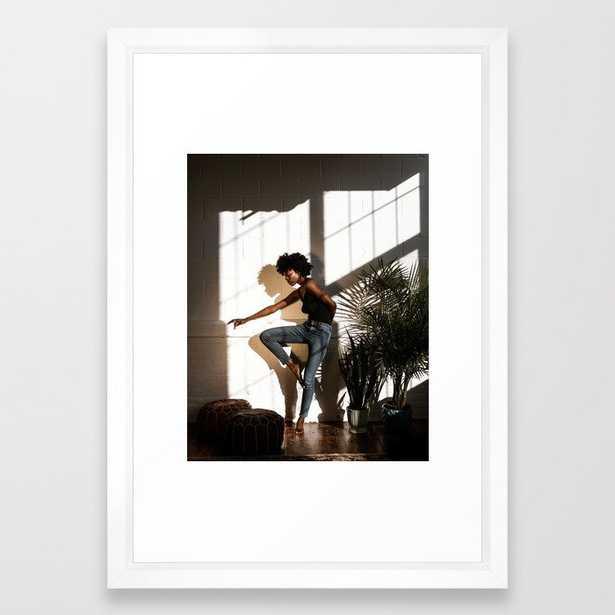 FIGURE // 13 Framed Art Print - Society6