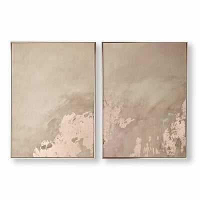 'Serenity' - 2 Piece Picture Frame Painting Print Set on Canvas - Wayfair