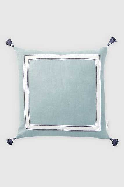 Caitlin Wilson Ribbon Trim Pillow with Tassels - Anthropologie