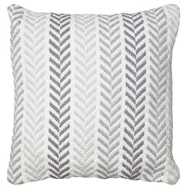 Altair Gray Geometric Hypoallergenic Polyester 18 in. x 18 in. Throw Pillow - Home Depot