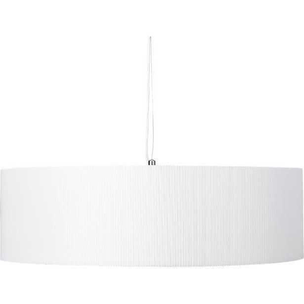 Equator White Oversized Pendant Light - CB2