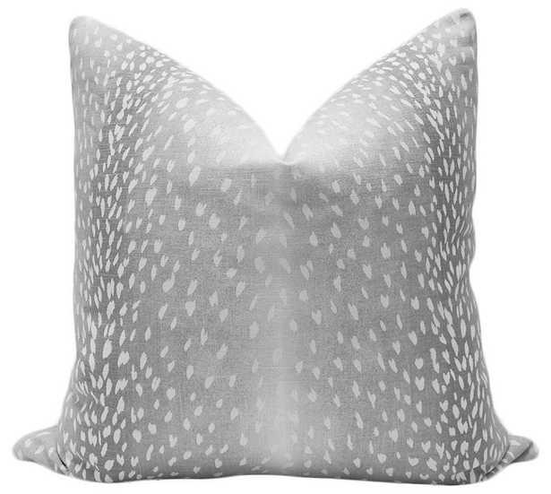 "Antelope Linen Print // Grey - 18"" X 18"" - Little Design Company"