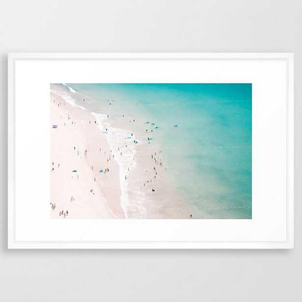 Beach - summer love II Framed Art Print - Vector White - 26x38 - Society6