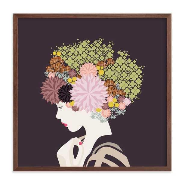 I'd rather wear flowers - art print 16x16, walnut - Minted