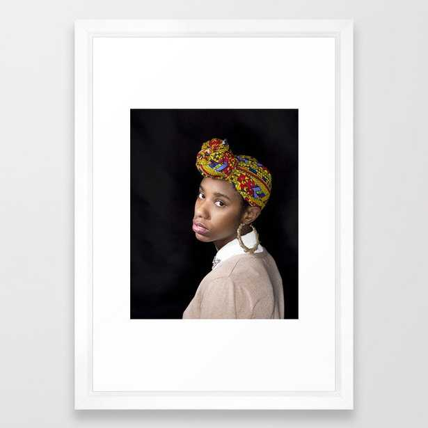 Girl with a Pearl Earring (Recreation) Framed Art Print - Society6