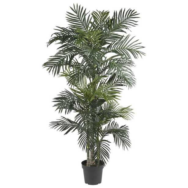 6.5' Silk/Artificial Tree - Fake Golden Cane Palm - Fiddle + Bloom
