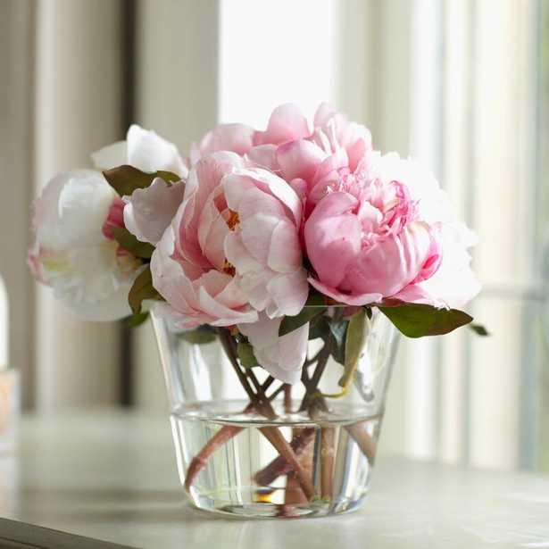 Faux Peony Floral Arrangements in Vase - Wayfair