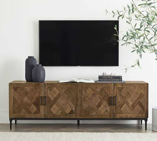 PARQUET RECLAIMED WOOD MEDIA CONSOLE - Pottery Barn