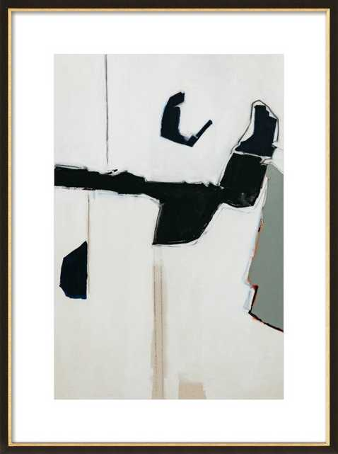 Halta Dominga  BY HOLLY ADDI- 20'' x 28''- Black and Gold Wood Frame- With Matte - Artfully Walls
