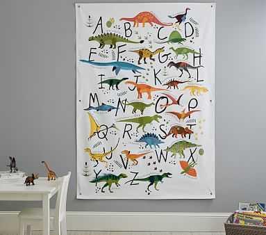 Dinosaur Alphabet Tapestry - Pottery Barn Kids