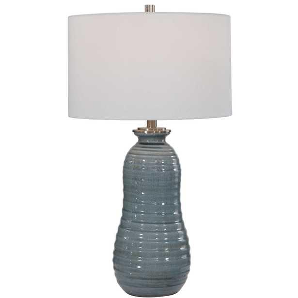Zaila Light Blue Table Lamp - Hudsonhill Foundry