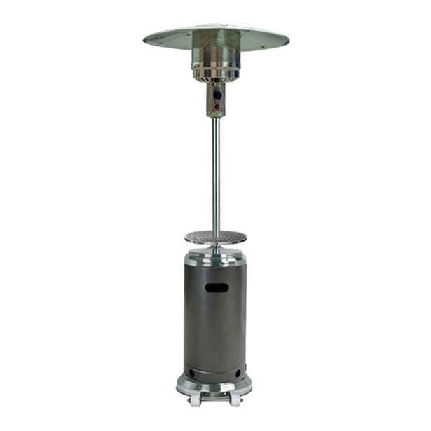 Barnhart 48,000 BTU Propane Patio Heater, Hammered Silver and SS - AllModern