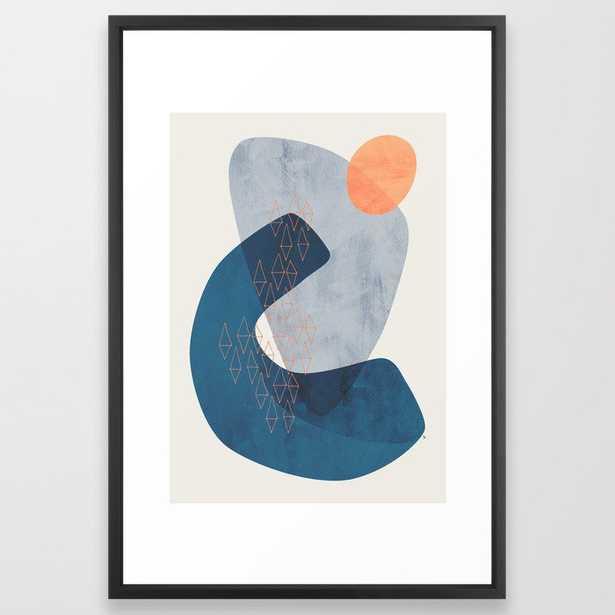 """Journey Framed Art Print - Vector black - 26x38"""" - Society6"""