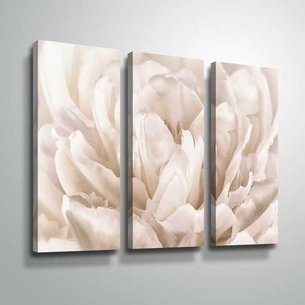 "36"" H x 54"" W x 2"" D 'Double White Tulip' Photographic Print Multi-Piece Image on Canvas - Wayfair"