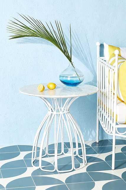 Seaford Side Table - white - Anthropologie