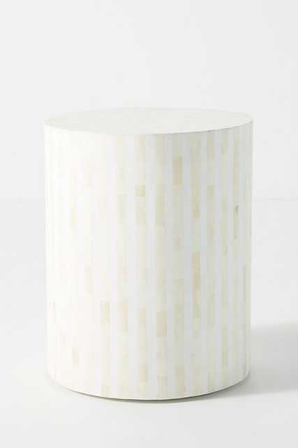 Rounded Inlay Drum Side Table - Anthropologie