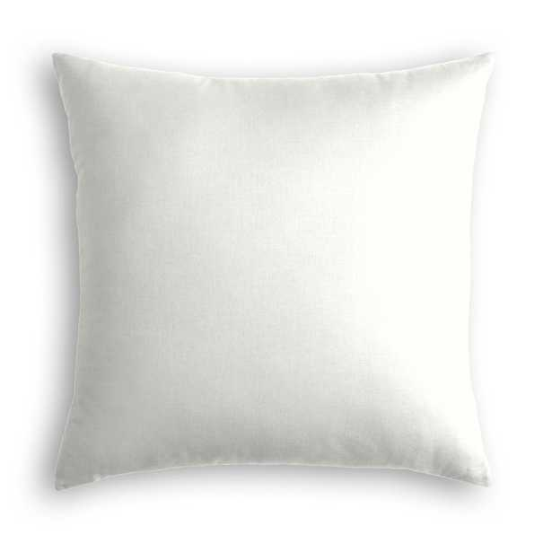 """Classic Linen Pillow, Ivory, 22"""" x 22"""" - Havenly Essentials"""