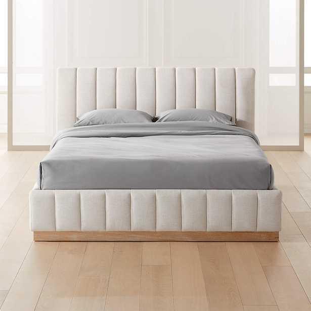 Forte Grey California King Bed - CB2