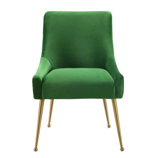 Skyler Green Velvet Side Chair - Maren Home