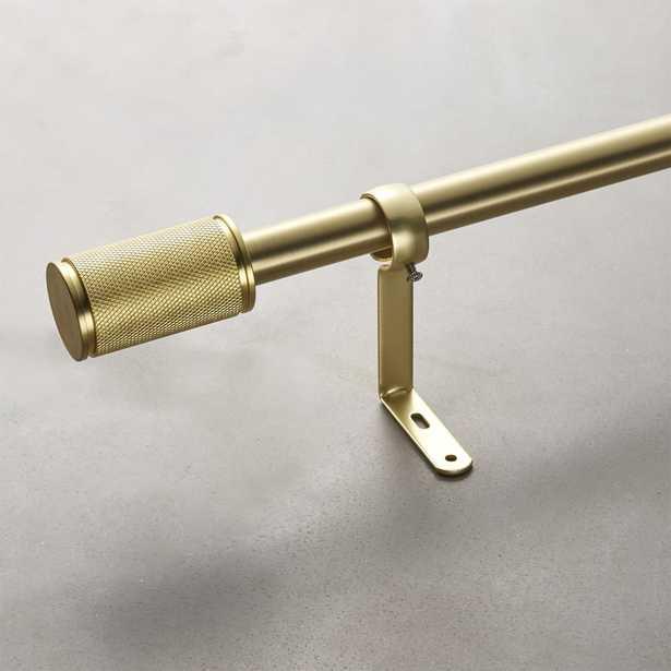 """Amp Brass Curtain Rod Set 48""""-88""""x1""""dia."" - CB2"