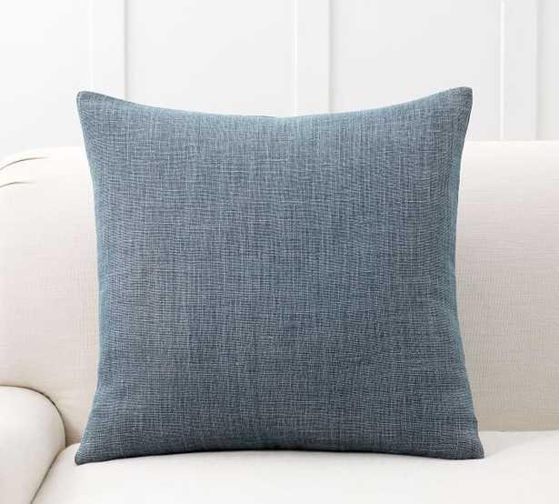 "Belgian Flax Linen Pillow Covers 24""x24"" Pillow Cover Midnight - Pottery Barn"