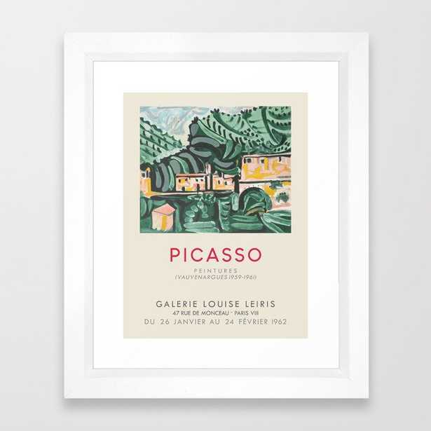 Pablo Picasso. Exhibition poster for Galerie Louise Leiris in Paris, 1962. Framed Art Print - Society6