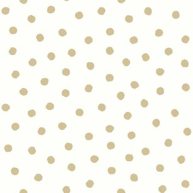 """Akerman 16.5' L x 20.5"""" W Dot Geometric Peel and Stick Wallpaper Roll - Wayfair"""