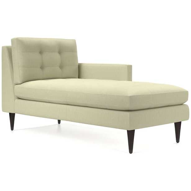 Petrie Right Arm Midcentury Chaise Lounge - Crate and Barrel
