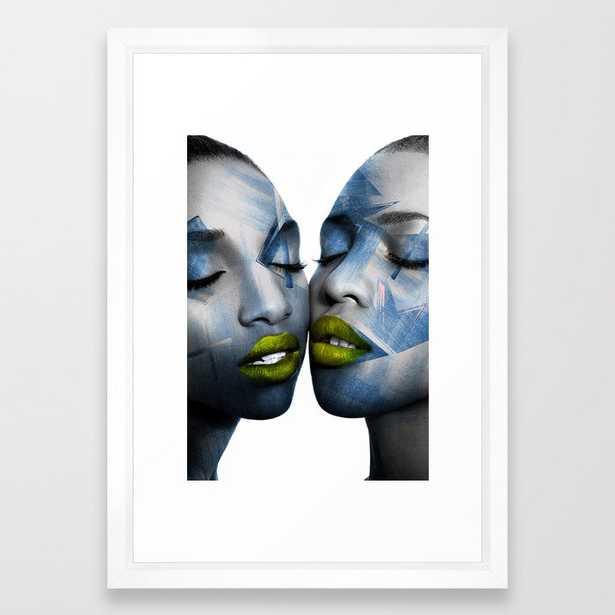 THE GIRL TWINS Framed Art Print - Society6