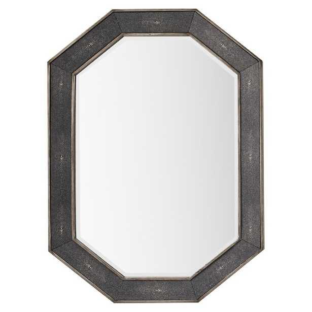 Loman Modern Beveled Bathroom / Vanity Mirror, Charcoal - Wayfair