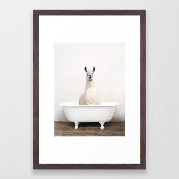 llama Bath (c) Framed Art Print - Society6