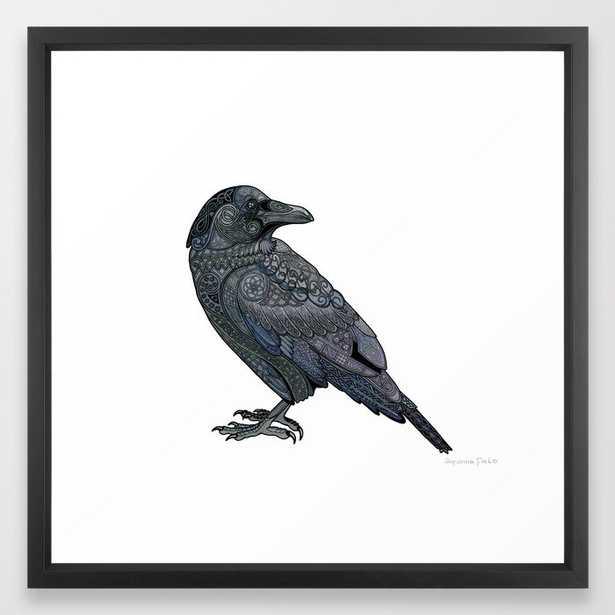 Celtic Raven Framed Art Print - Society6