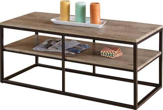 Forteau Frame Coffee Table with Storage - Wayfair