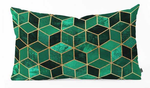 "Emerald Cubes - 23"" x 14"" - green - Wander Print Co."