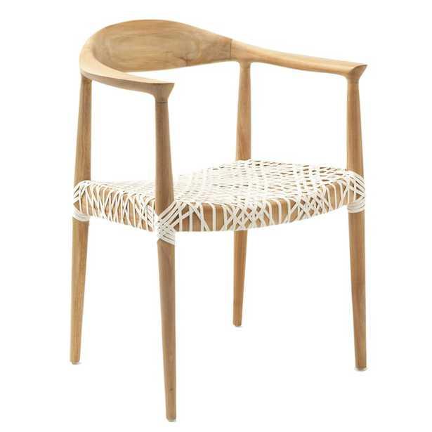 Albertina Genuine Leather Upholstered Dining Chair - Wayfair