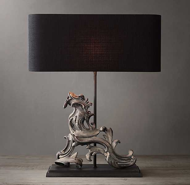 FRENCH ROCOCO GATE ARTIFACT TABLE LAMP - RIGHT - RH