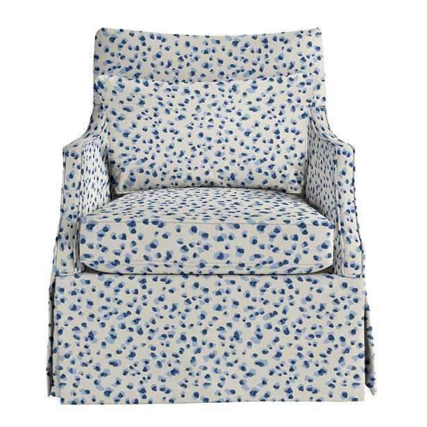 Larkin Club Chair - Mira Blue - Ballard Designs