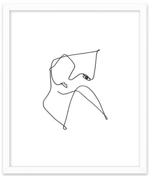 La Mirada - Contemporary White Wood Frame - Artfully Walls