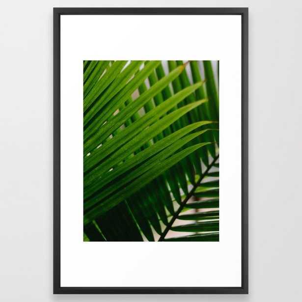 71 Tropical Lines Framed Art Print - Society6